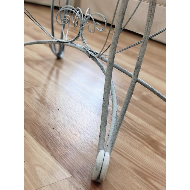 1960s Shabby Chic Wire Tray Table For Sale - Image 5 of 7