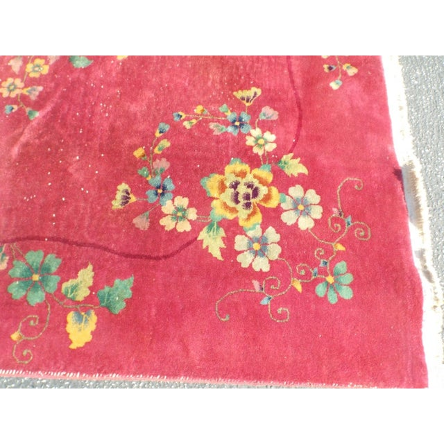 Authentic 1930s Art Deco Chinese Handmade Rug - Image 4 of 9