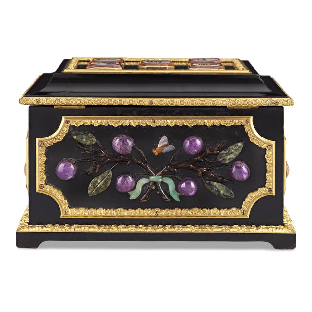 Grand Tour Micromosaic and Pietre Dure Grand Tour Casket For Sale - Image 3 of 6