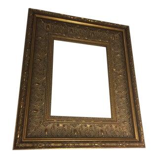 Carved Gold Gilt Frame For Sale