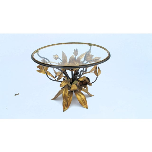 Italian Gold Leaf Occasional Side Table - Image 2 of 5