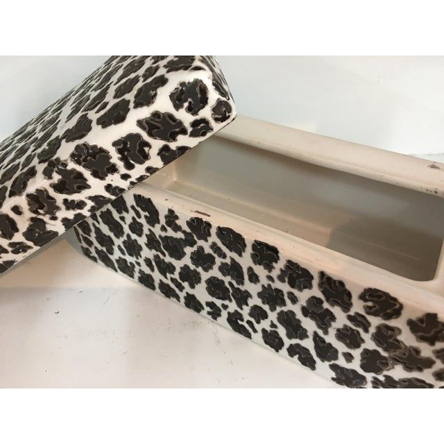 Animal Print Porcelain Black & White Box - Image 3 of 5