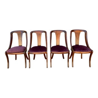1960s Vintage Hickory Chair Co. Biedermeier Chairs - Set of 4 For Sale
