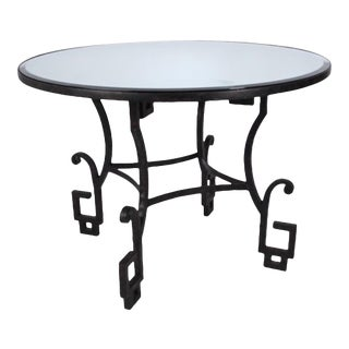 Modern Bliss Studio Bronze Finished Greek Key Dining Table/Center Table For Sale