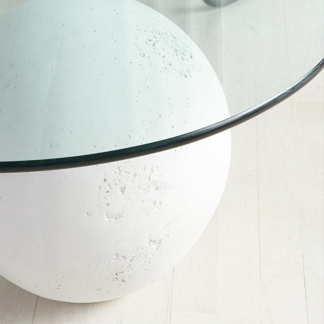 Modern Glass and Plaster Ball Coffee Table For Sale - Image 3 of 9