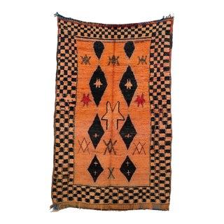"Boujad Vintage Moroccan Rug, 4'9"" X 7'7"" For Sale"