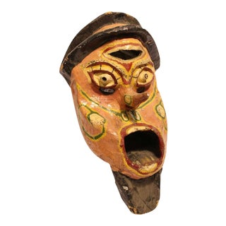 Early 1900's Paper Mache Carnival Head For Sale