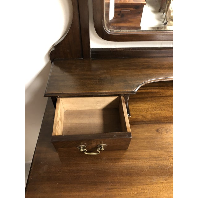 Late 19th Century 19th Century English Mahogany Mirrored Vanity For Sale - Image 5 of 7