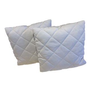 Dove Gray Petite Pillows - A Pair For Sale