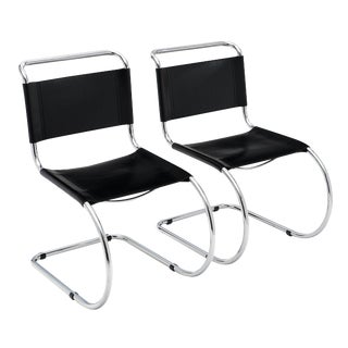 Vintage Mies Van Der Rohe Cantilever Chairs - a Pair For Sale
