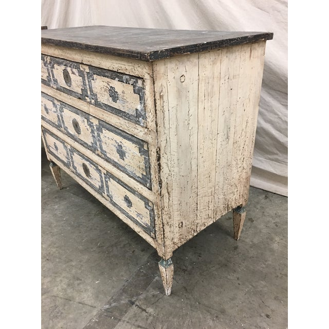 Pair of Italian Painted Chests / Commodes - 18th C For Sale - Image 4 of 13