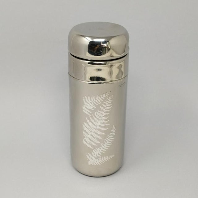 Astonishing Italian Sambonet Cocktail Set Graffiti Collection, Silver and stainless steel 1970s. This set is excellent...