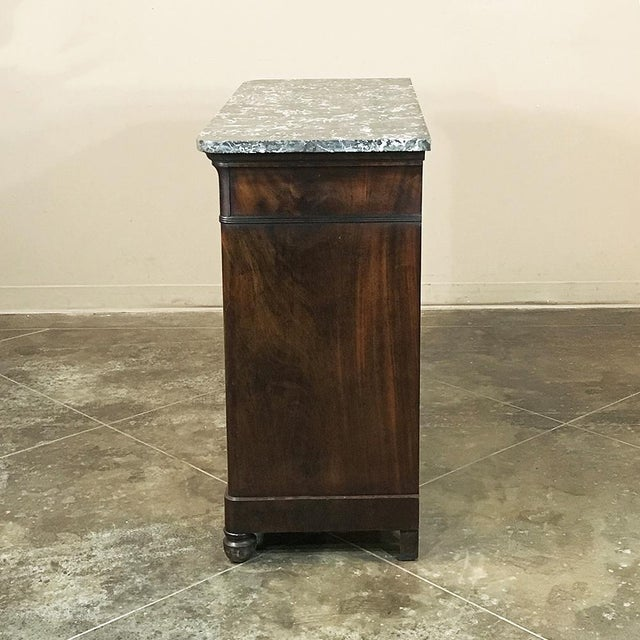 19th Century French Charles X Mahogany Marble Top Buffet For Sale - Image 11 of 13
