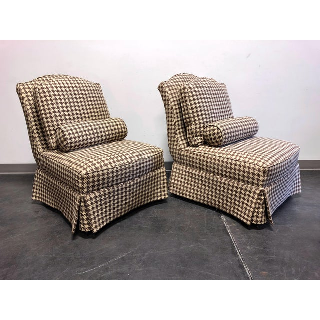Traditional Theodore Alexander Althorp Living History Herringbone Slipper Chairs For Sale - Image 3 of 13
