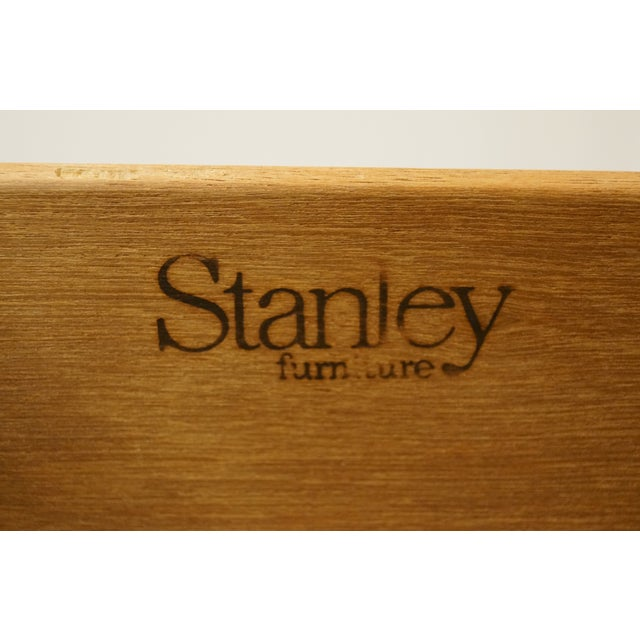"""Stanley Furniture Pickled Oak 42"""" Door Chest/Armoire For Sale - Image 9 of 13"""