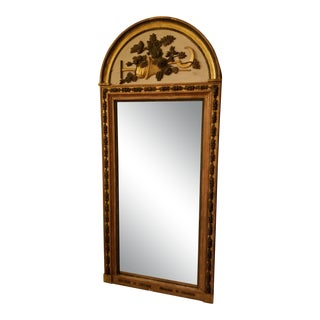 Swedish Neoclassical Garden Themed Mirror For Sale