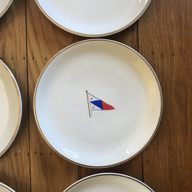 Vintage Syracuse China Yacht Club Plates - Set of 6 For Sale - Image 9 of 13