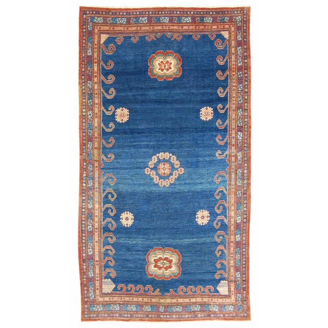 Asian Kashgar Carpet - 7′1″ × 12′5″ For Sale - Image 3 of 3