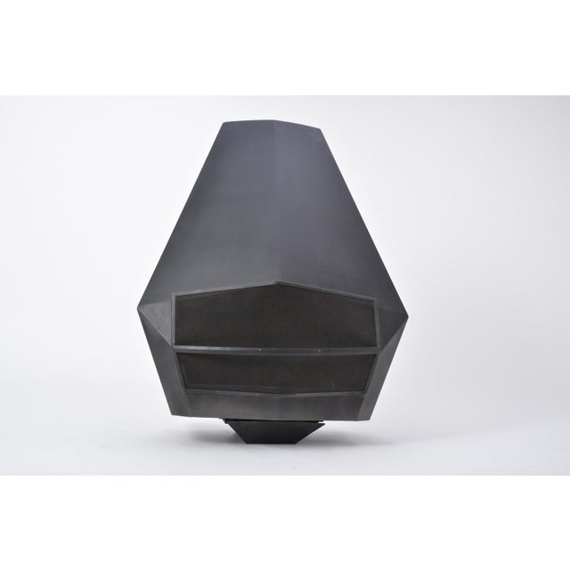 Model 5005 Mid-Century Modern Steel Fireplace From Don-Bar Design, 1970s For Sale - Image 12 of 12