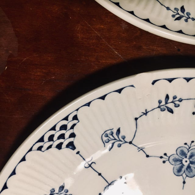 Dessert/Pie Plate Denmark Blue by Franciscan - Set of 7 For Sale In Baltimore - Image 6 of 8
