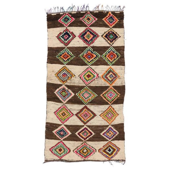 Textile 20th Century Moroccan Berber Azilal Rug - 4'10 X 9'4 For Sale - Image 7 of 7