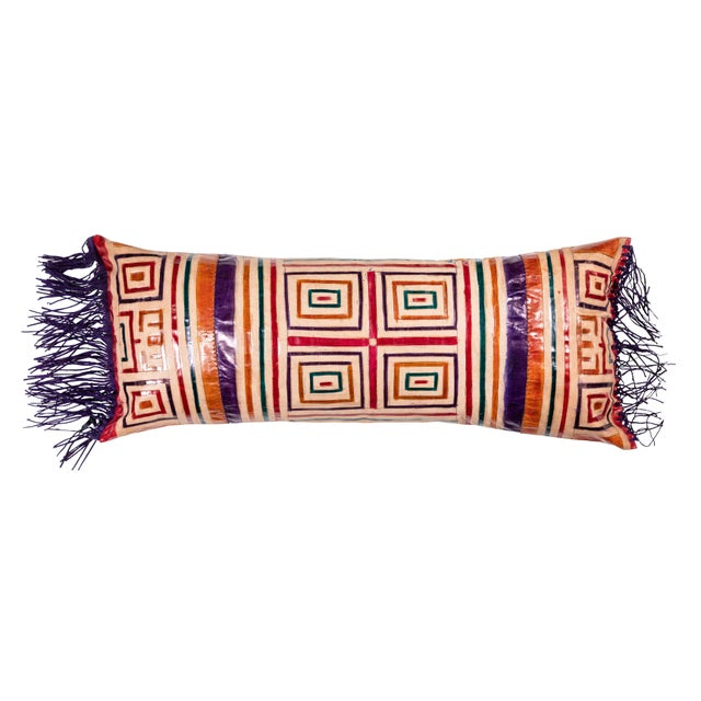 Moroccan Leather Bolster Pillow For Sale In Los Angeles - Image 6 of 6