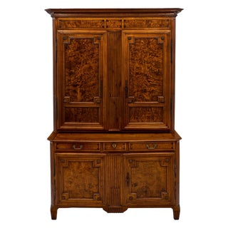 Louis XVI Period Burled Ash Double Corps Buffet For Sale