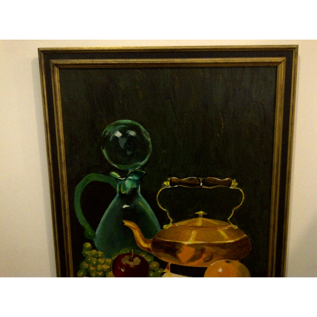 """Traditional Vintage """"Tea Kettle"""" Painting by John Micheal For Sale - Image 3 of 9"""