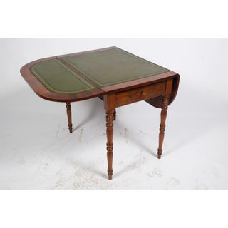 19th Century Louis Philippe French Leather Top Walnut Side Table Preview
