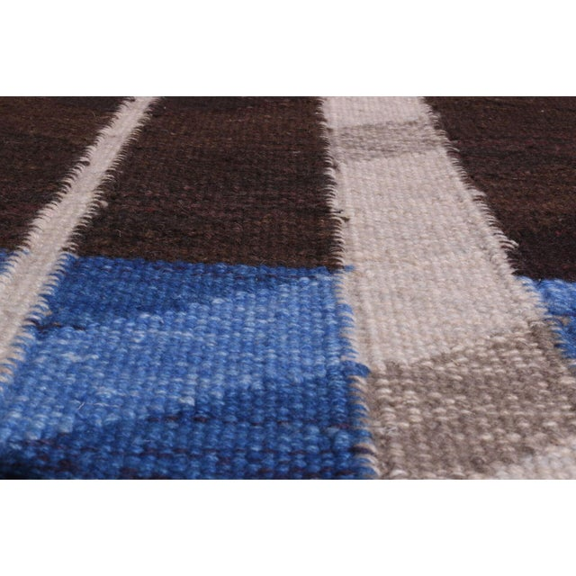2010s Swedish Flatweave in Custom Design Rug - 9' X 12' For Sale - Image 5 of 6