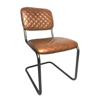 21st Century Sarreid Ltd. Rodeo Drive Leather Side Chair For Sale