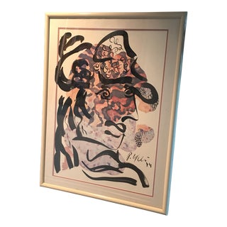 """Peter Keil """"my Dear Friend Picasso"""" Abstract Painting For Sale"""