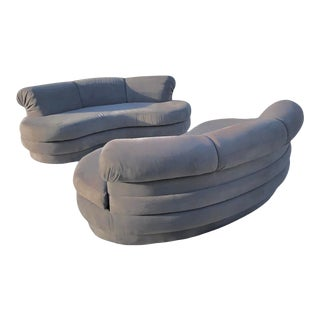 Adrian Pearsall Kidney Shaped Sofas - A Pair For Sale