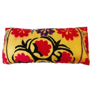 Vintage Uzbek Suzani Lumbar Pillow