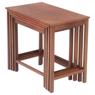 Teak Nesting Tables by Peter Hvidt and Orla Molgaard Nielsen for Illums Bolighus For Sale