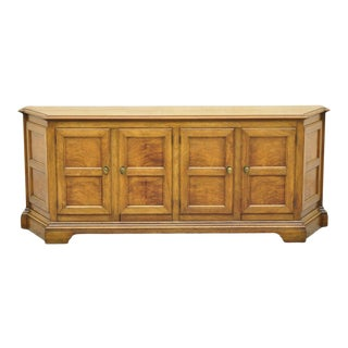 Baker French Provincial Country Style Walnut Credenza Cabinet Sideboard Buffet For Sale