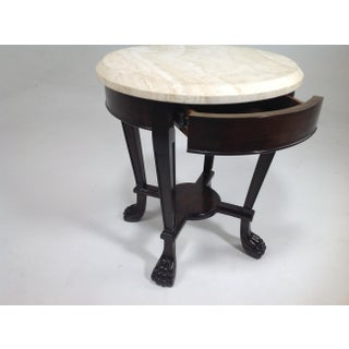 Tuscan Style Travertine Top Side Table Preview