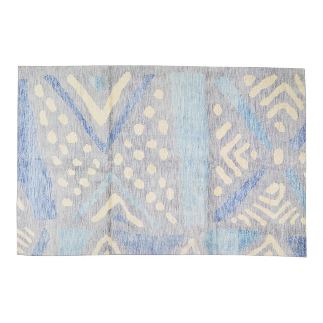 """Moroccan Hand Knotted Azilal Rug With Soft Texture,6'6""""x10'2"""" For Sale"""
