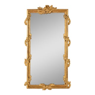 Early 19th Century Split Plate Mirror in Giltwood Frame For Sale