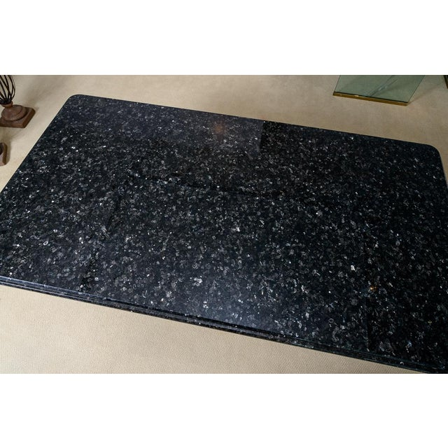 Gold Regency Style Granite Top Oversize Library Table With Bronze Claw Feet For Sale - Image 8 of 12