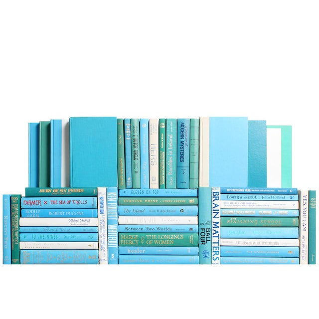 Modern Modern Ocean Book Wall : Set of Fifty Decorative Books For Sale - Image 3 of 3
