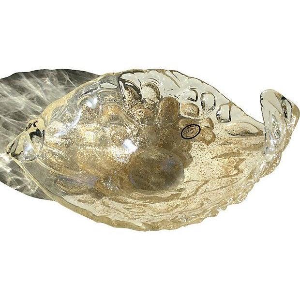 Lavorazione Arte Murano Gold Fleck Leaf Glass Bowl - Image 2 of 6
