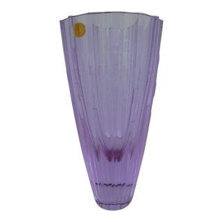 1960s Bohemian Neodymiun Glass Vase by Zelezdroske Sklo - Czechoslovakia For Sale