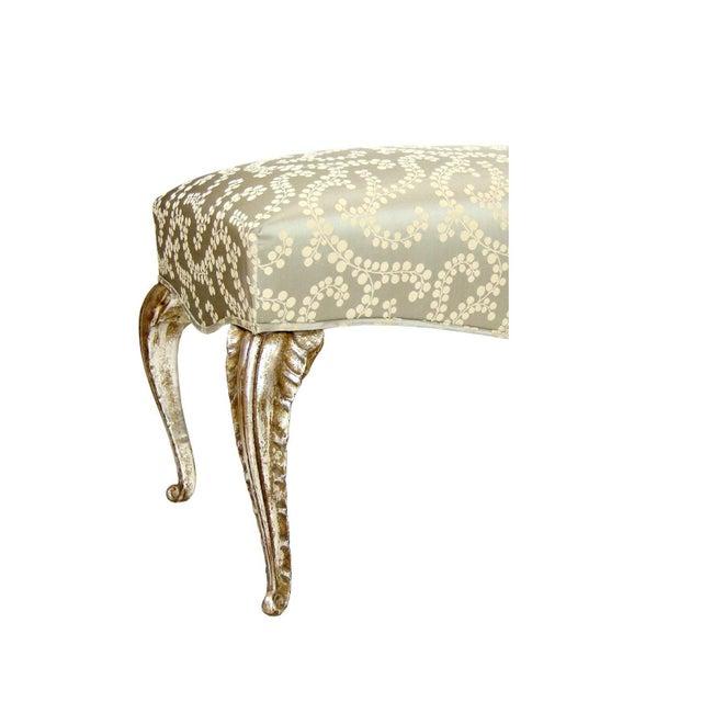 Elegant French Arcadia Crocodile Embossed Leather Bench by Randy Esada Designs Item #: 9015 - Arcadia Bench Finish: 23K...