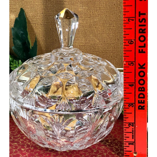 Transparent Vintage Crystal Dishes With Lids - Set of 3 For Sale - Image 8 of 12