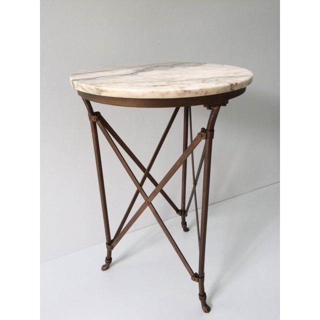 French Directoire Gueridon Table With Marble Top - Image 4 of 9
