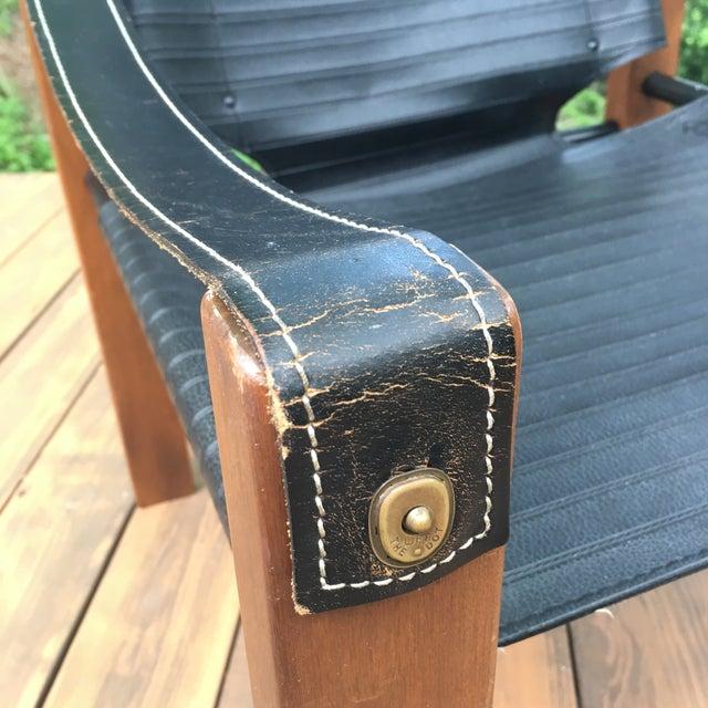 Sirocco Safari Black Vinyl & Leather Arms Chair - Image 4 of 10