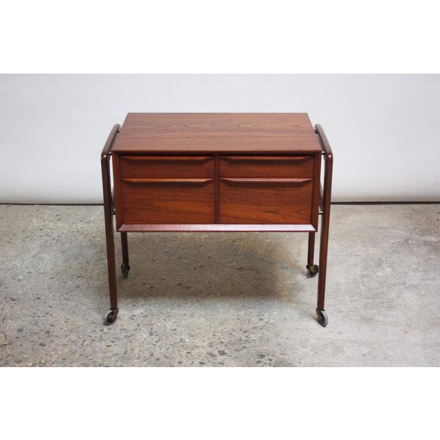 Danish Modern Diminutive Teak Chest on Casters by Arne Vodder - Image 2 of 11