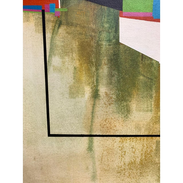 Modernist Geometric Painting, 1971 For Sale In Dallas - Image 6 of 13