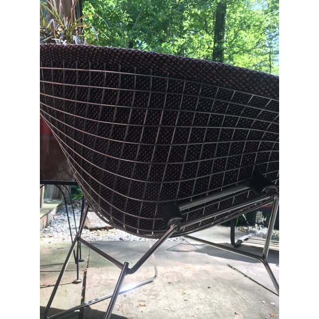 1970s Mid Century Modern Harry Bertoia for Knoll Diamond Lounge Chair - Image 3 of 8